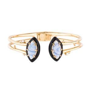 NWOT Alexis Bittar Marquise Resin Cuff Bracelet